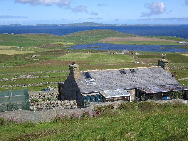 Everybist looking over to Westray (North West Orkney)