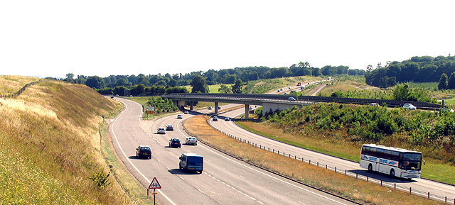 The split of A34 (T) into the A339 and A34