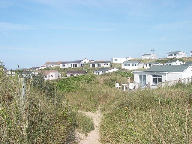 Holiday chalets on Hayle Towans