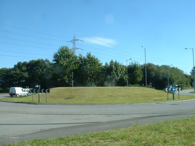 Roundabout on A494
