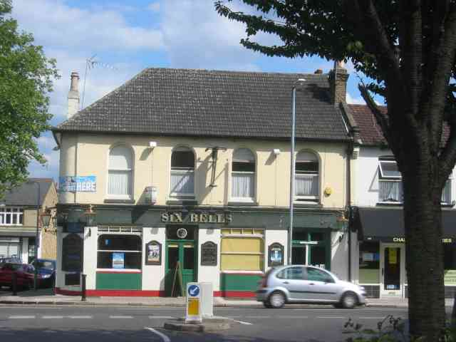 Six Bells Pub  on Chase Side Enfield