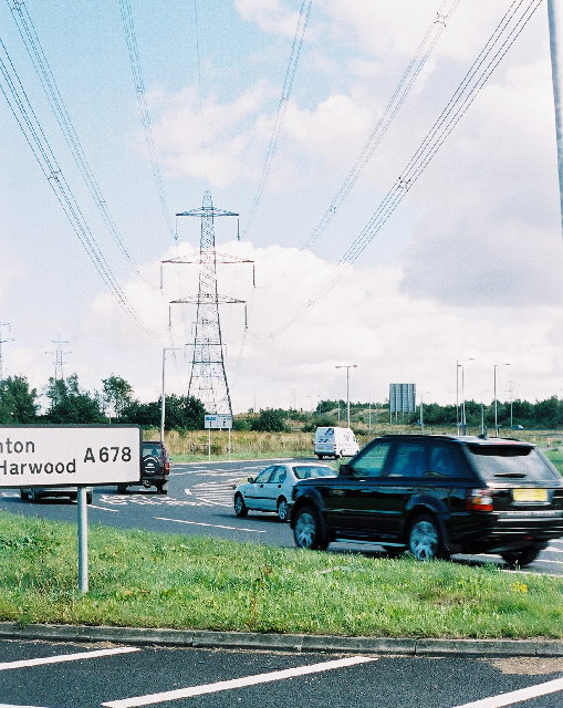 Roundabout at Whitebirk, Blackburn (J6 on M65)