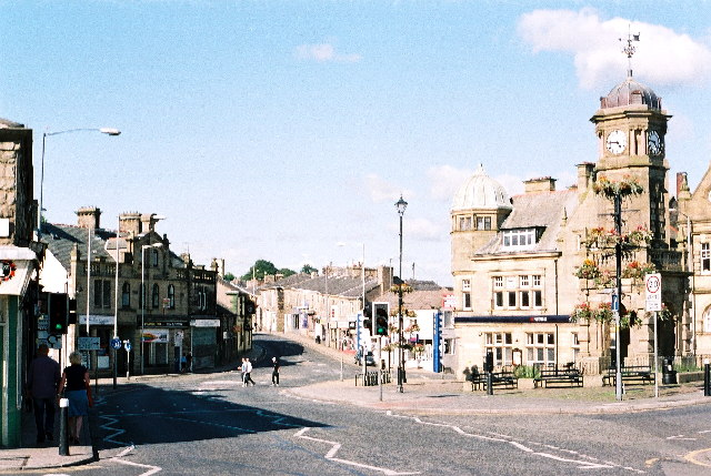 Great Harwood. Town Hall with Clock Tower.