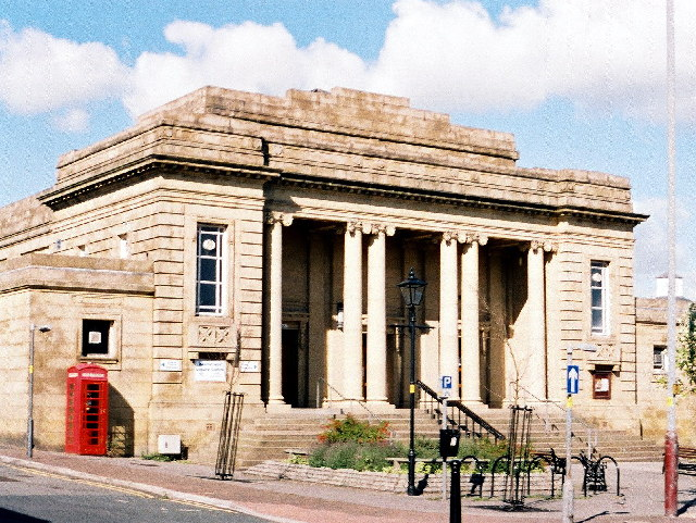 Great Harwood leisure centre and baths. (Mercer Hall 1921)