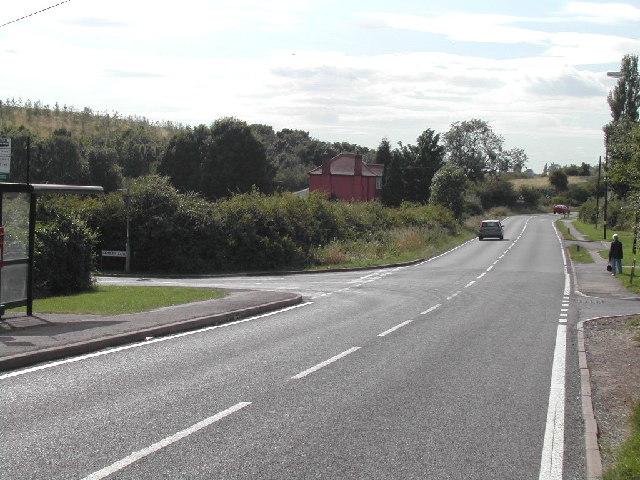 Junction of Spring Lane and Lambley Lane