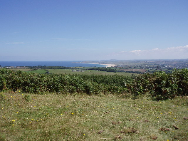 Hayle sands and Godrevy Island from Trencrom