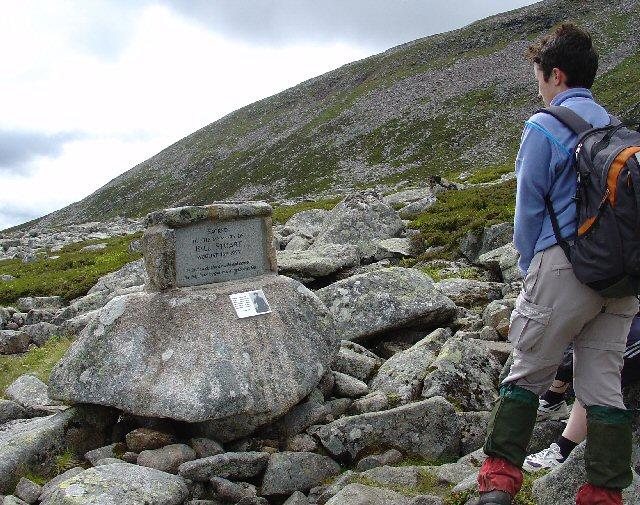 Bill Stuart Memorial, Near Fox Cairn Well, Meikle Pap