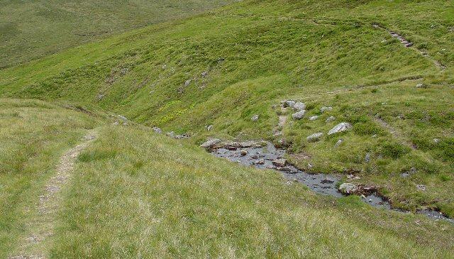 Stalkers Path Crossing Allt an Da Chraobh Bheath