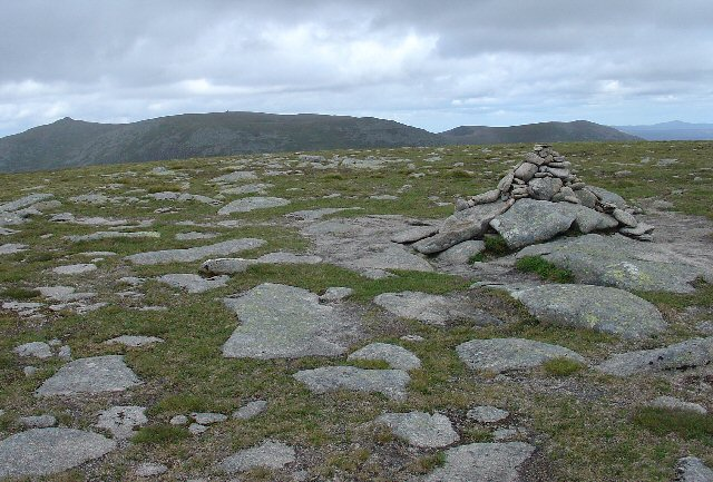 Summit cairn of Carn a' Choire Bhoidheach