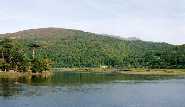 Afon Mawddach at Penmaenpool