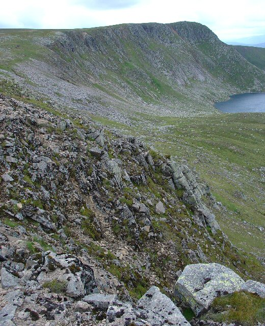 Erosion Gully between Lochnagar and The Stuic