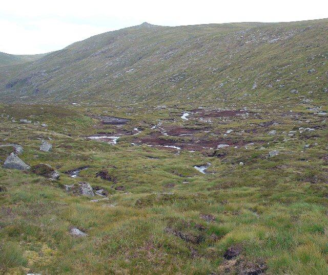 Marshy ground beside Allt an Dubh-loch