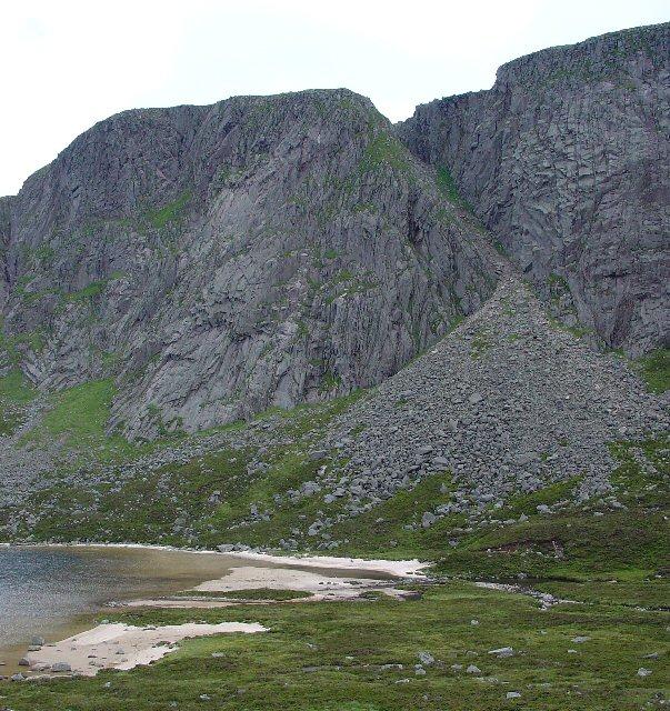 Central Gully, Creag an Dubh Loch.