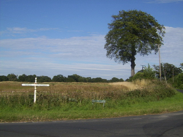 Signpost at Grotto Lane