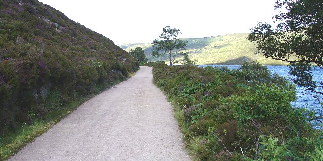 Gravel Road on N edge of Loch Muick