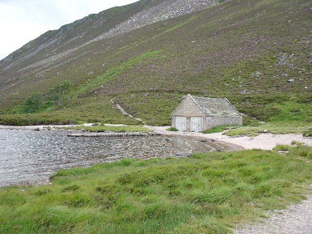 Boathouse, N end of Loch Muick