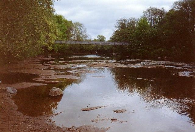 Footbridge over North Esk