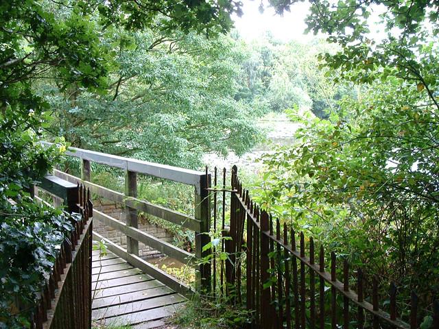 Footbridge at Worthington Lake Reservoir