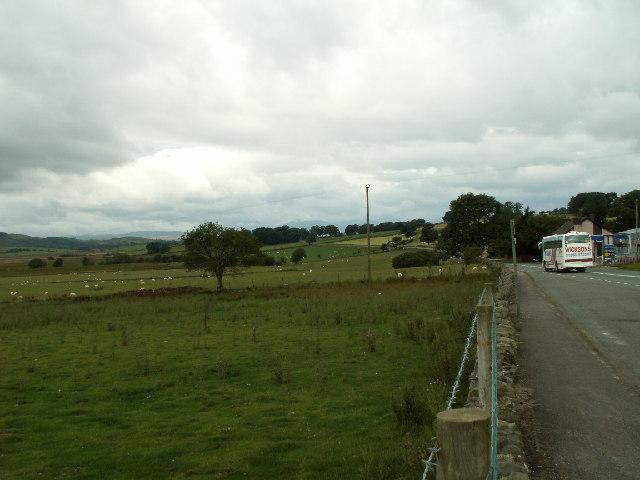 Farmland alongside A5, near Glasfryn