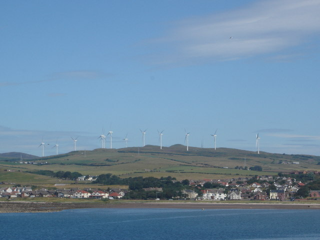 Wind Farm above Ardrossan