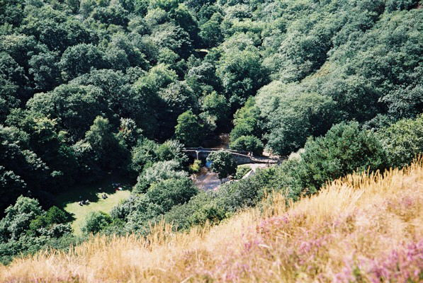 Drewsteignton: Fingle Bridge from Prestonbury Castle