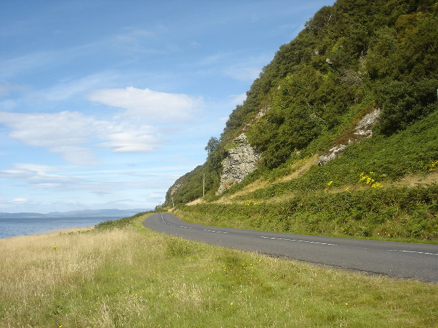 Coast road near Catacol, Arran, Firth of Clyde