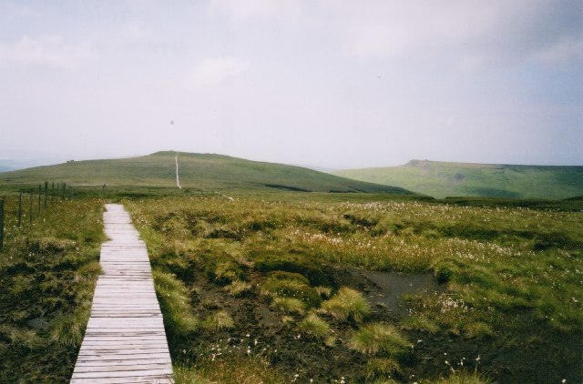 The Pennine Way, approaching Auchope Cairn from the SE