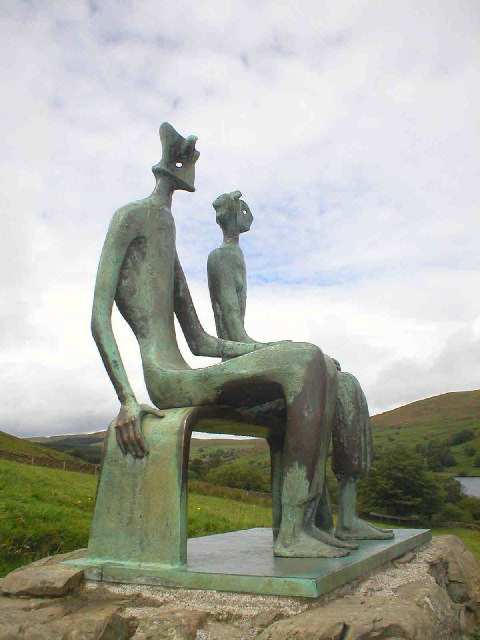 'King & Queen' by Henry Moore, Glenkiln