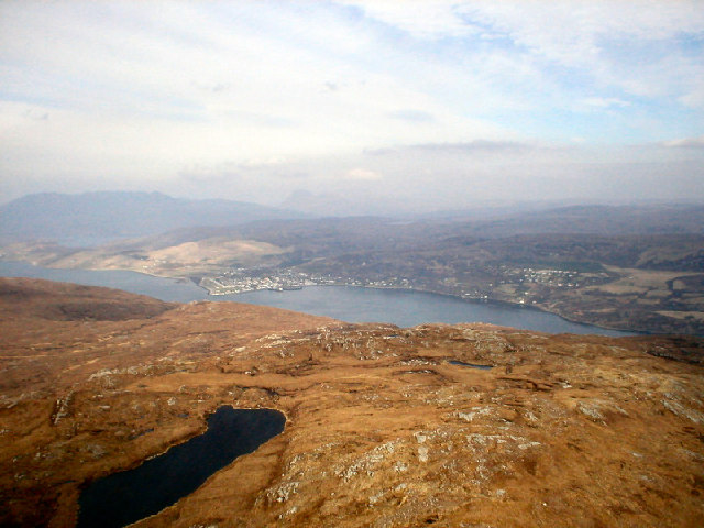 Aerial View toward Ullapool