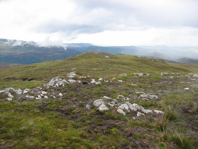Sgurr Mharcasaidh ridge.