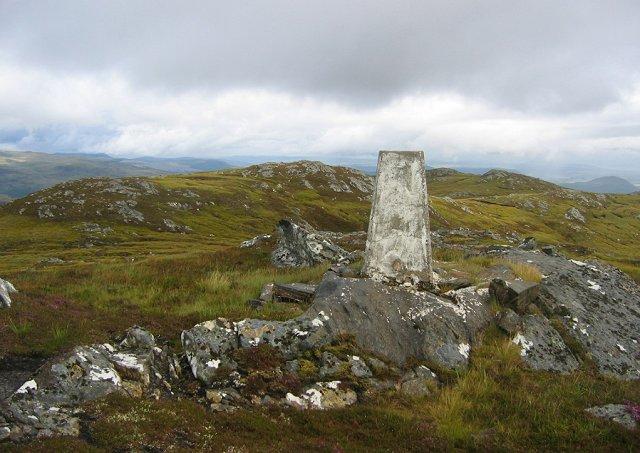 Summit of Sgurr Mharcasaidh.
