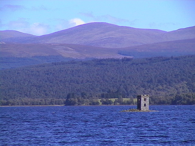 Eilean nam Faoileag crannog and Loch Rannoch
