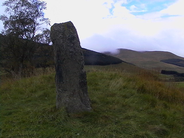 Standing stone at Spittal of Glenshee