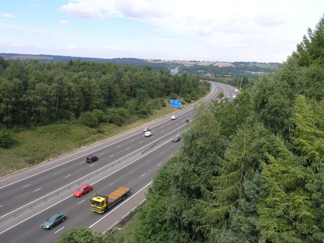 M23, with M25 junction in the distance