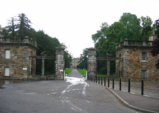 Gates of Newbattle Abbey.