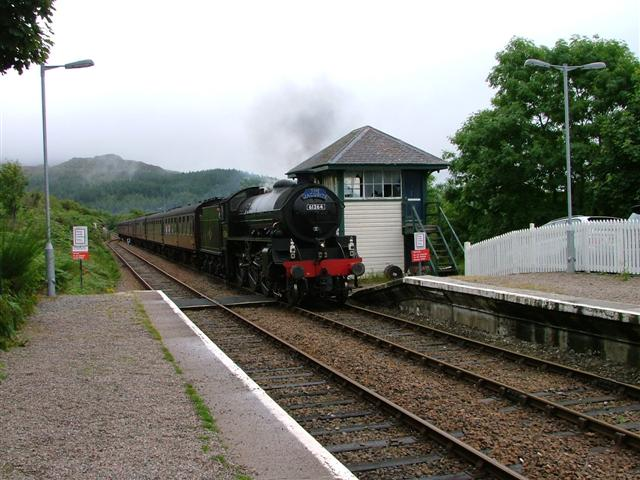 The Jacobite Approaching Arisaig Station