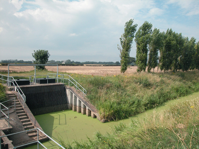 Flood control and drainage ditch