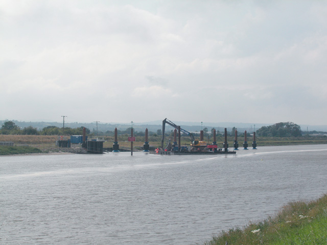 Barge dock and slipway