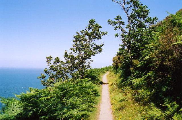 Martinhoe: coast path