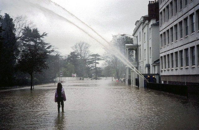 Flood relief, Royal Leamington Spa