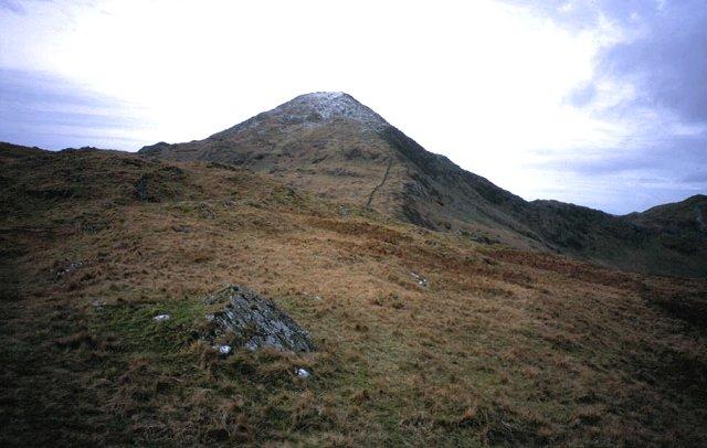 East ridge of Yr Aran.