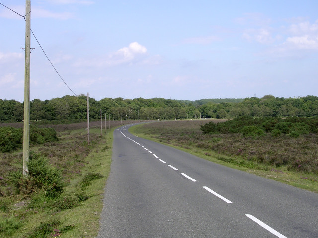 Road across Yew Tree Heath, New Forest
