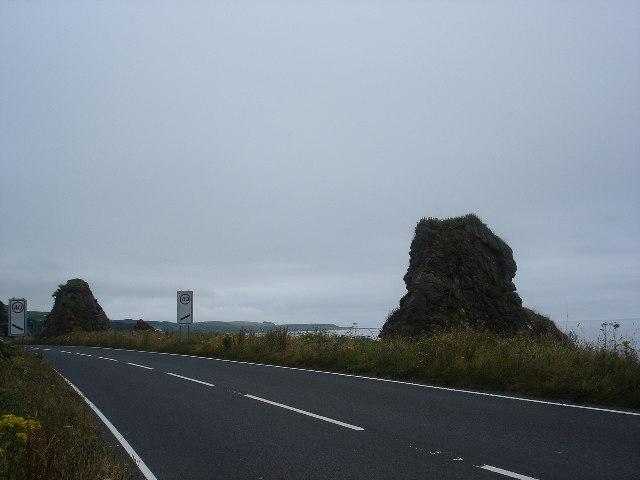 Sea Stacks outside Muasdale, Kintyre