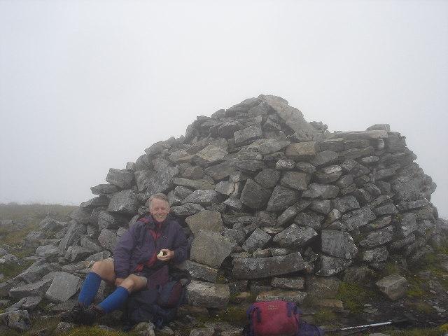 A friend on summit of Gulvain