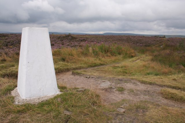 Trig point, Norland Moor