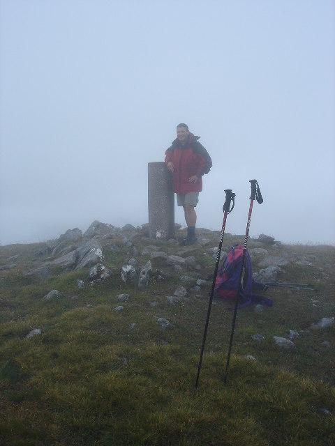 Trig point on Gulvain near Glenfinnan