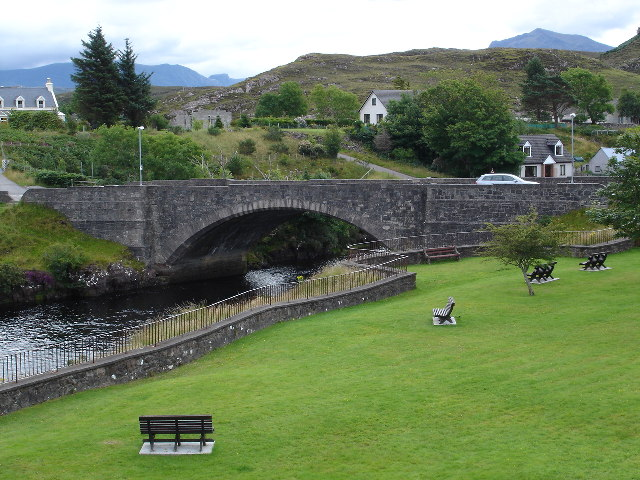 Bridge over River Ewe in Poolewe