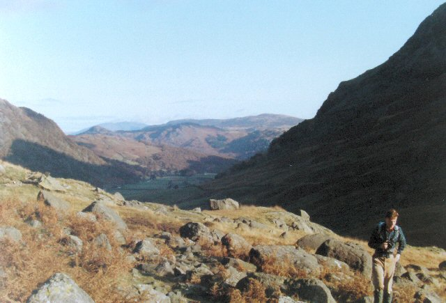 Northern end of Borrowdale, Shoulder of Seathwaite Fell on bridleway to Styhead.