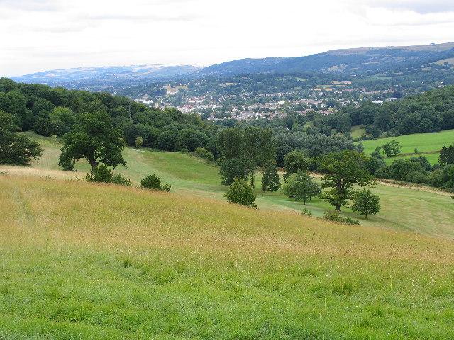 Lower slopes of Charlton Kings Common.