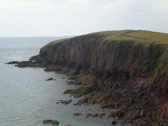 Cliffs on western side of Caldey Island